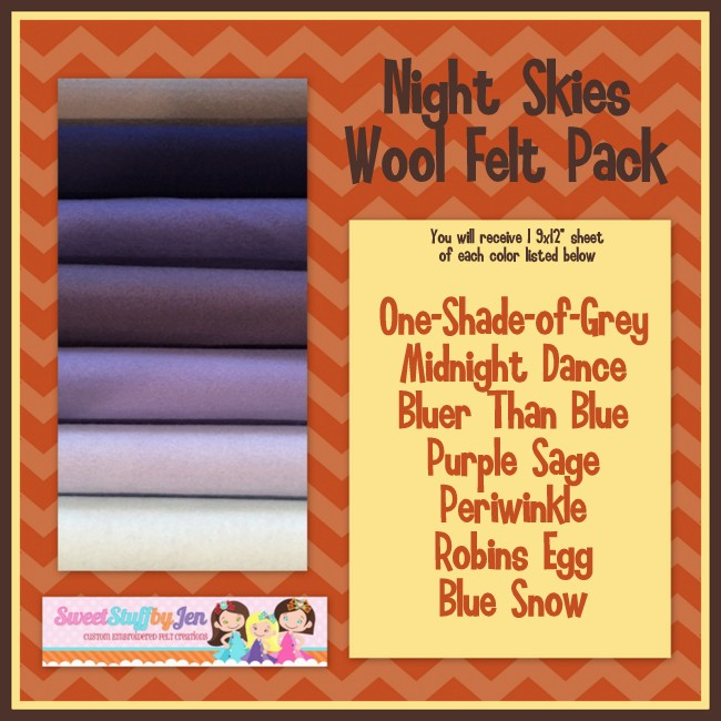 Night Skies Felt Variety Pack