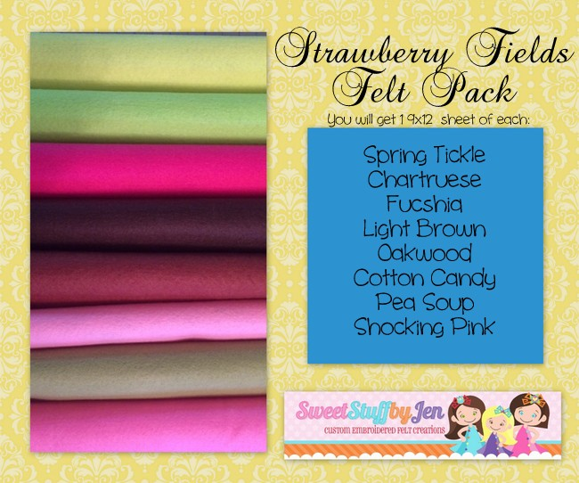 Strawberry Fields Felt Pack
