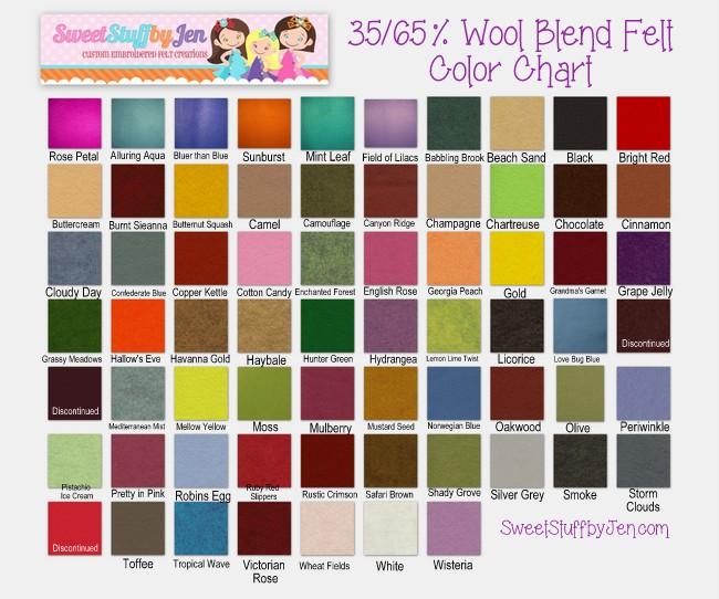 35/65 Wool Felt Sheets