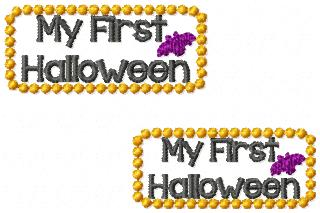 My First Halloween Embroidery File