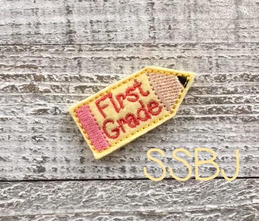 SSBJ First Grade Pencil Embroidery File