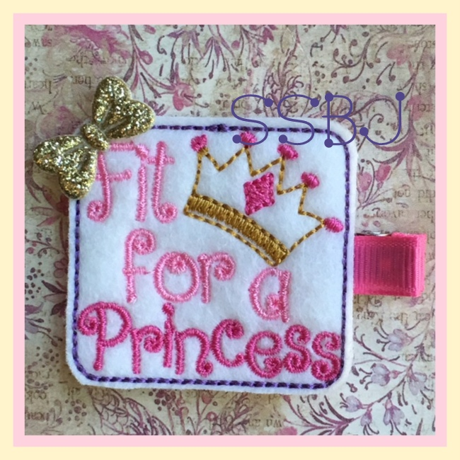 SSBJ Fit for a Princess Embroidery File