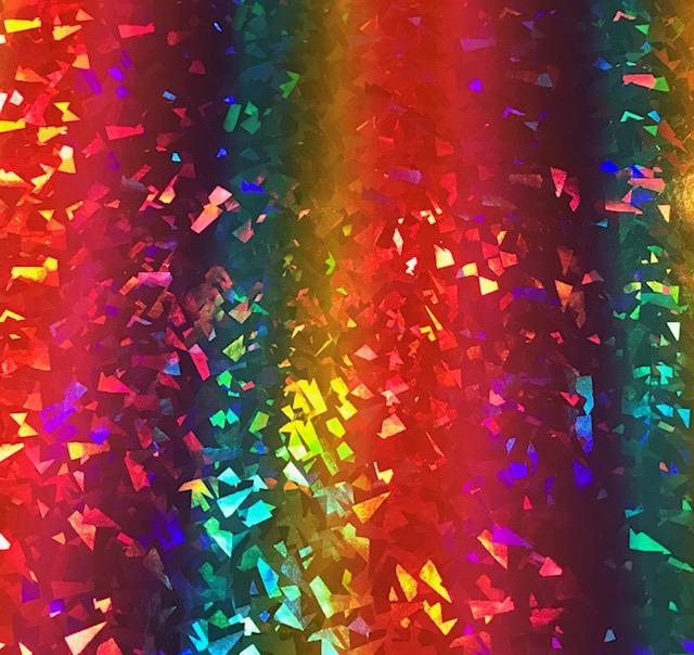 Rainbow Fleck Embroidery Vinyl