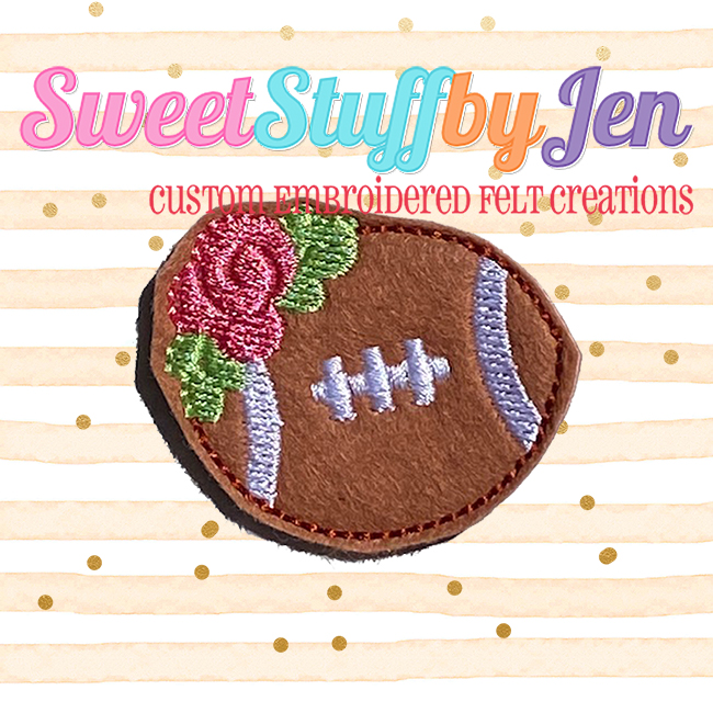 SSBJ Floral Football Embroidery File