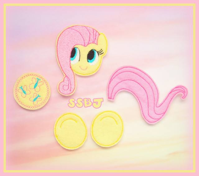 Little Pony Parts-Fluttershy Embroidery File