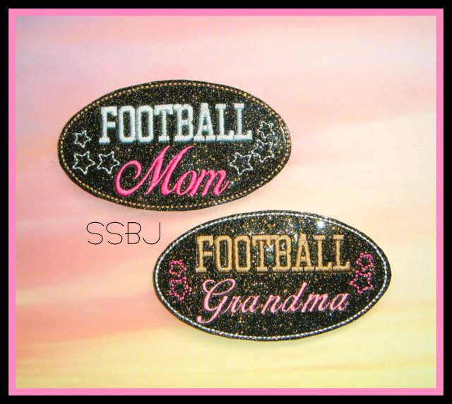 Football MOM Embroidery File