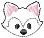 Fox Face Feltie Embroidery File