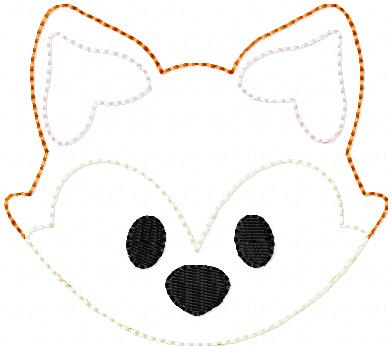 Fox Face Feltie Keeper Embroidery File