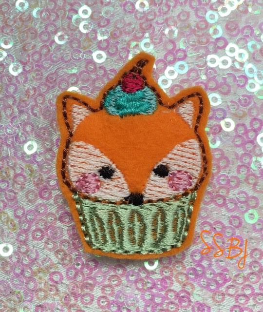 SSBJ Animal Cake Fox Embroidery File