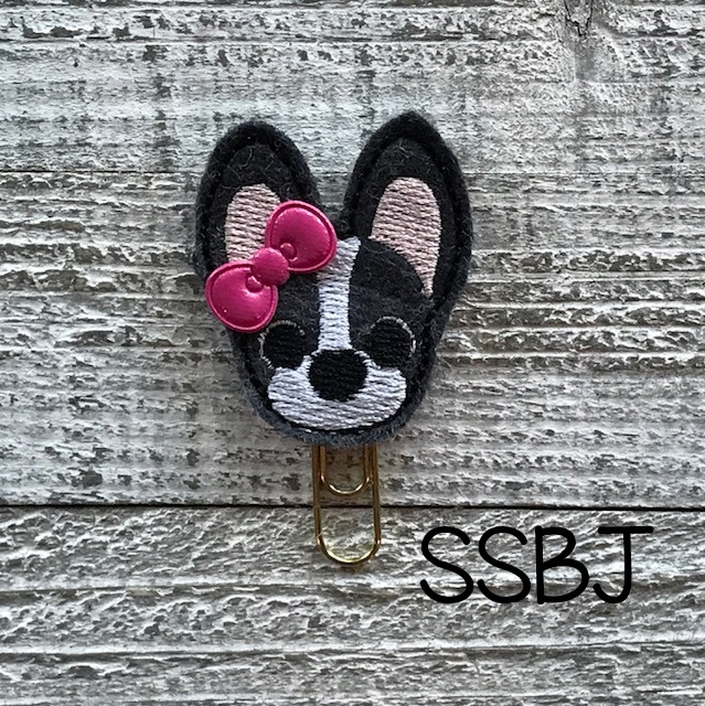 SSBJ Pet Pals French Bull Dog Embroidery File