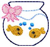 Friendly Fishies Embroidery File