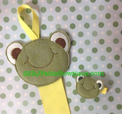 Frog Face Embroidery File SET