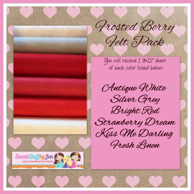 Frosted Berry Valentine Felt Pack