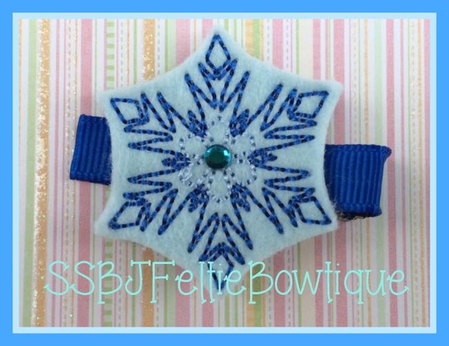 Elsa's Snowflake Embroidery File