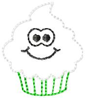 Ghost Cupcake Embroidery File