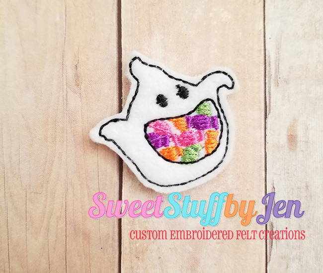 SSBJ Ghost Candy Jar Embroidery File