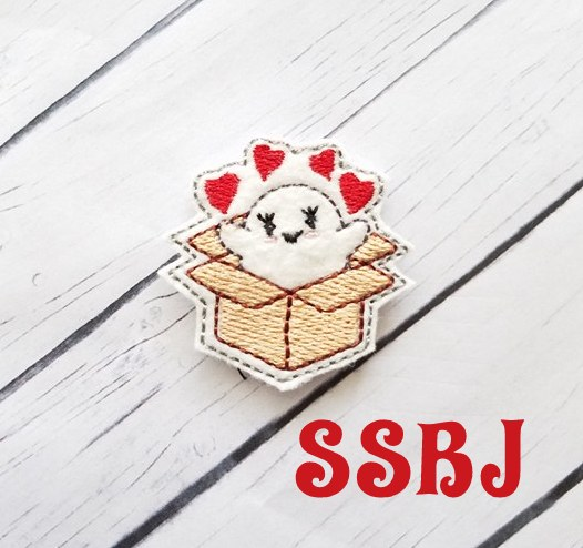 SSBJ Ghost Happy Mail Embroidery File