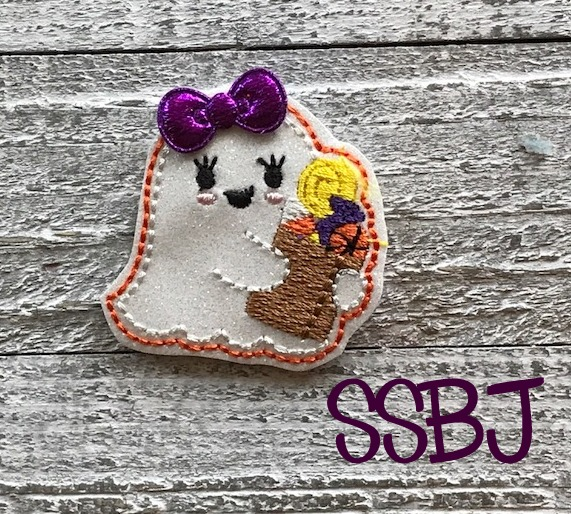 SSBJ Ghost Treat Bag Embroidery File
