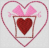 Valentine Gift Box Embroidery File