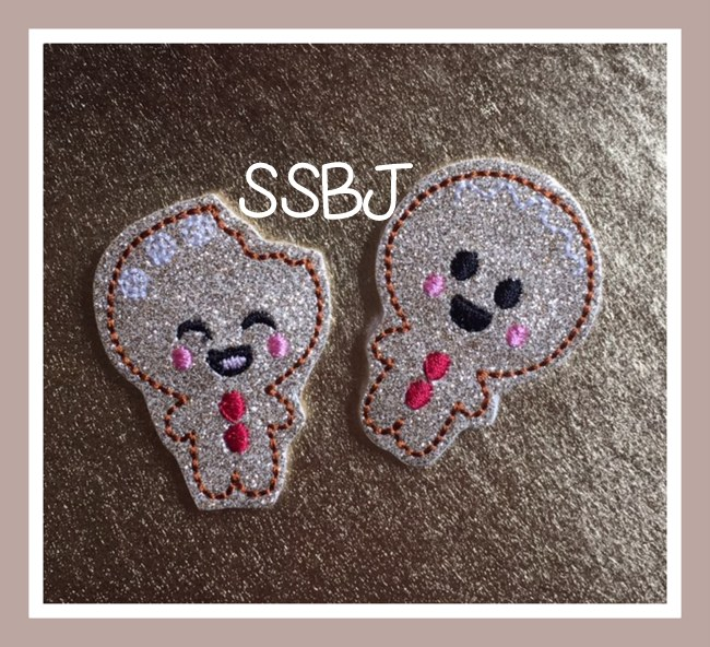 SSBJ Ginger Cookies Couple Embroidery File