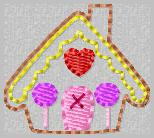 Ginger House Applique Embroidery File