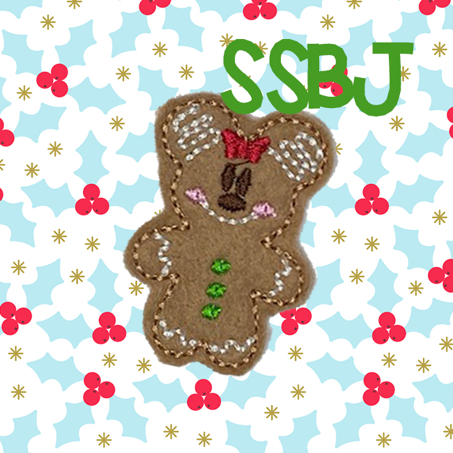 SSBJ Mrs Mouse Gingerbread Embroidery File
