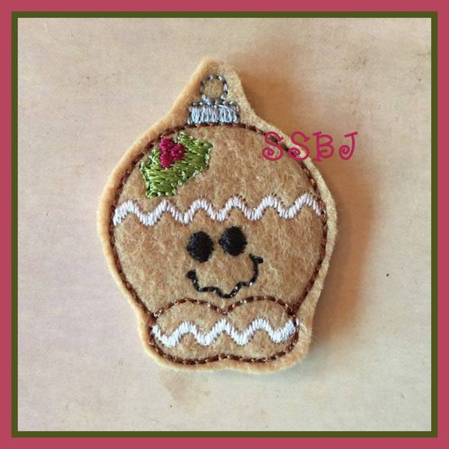 SSBJ  Gingerman Ornament Embroidery File