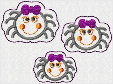Girly Spider Embroidery File