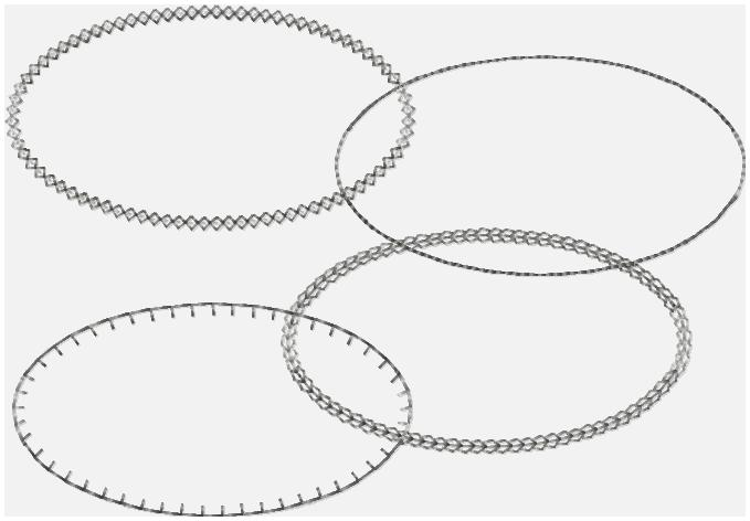 Glam Band Oval Template Embroidery File