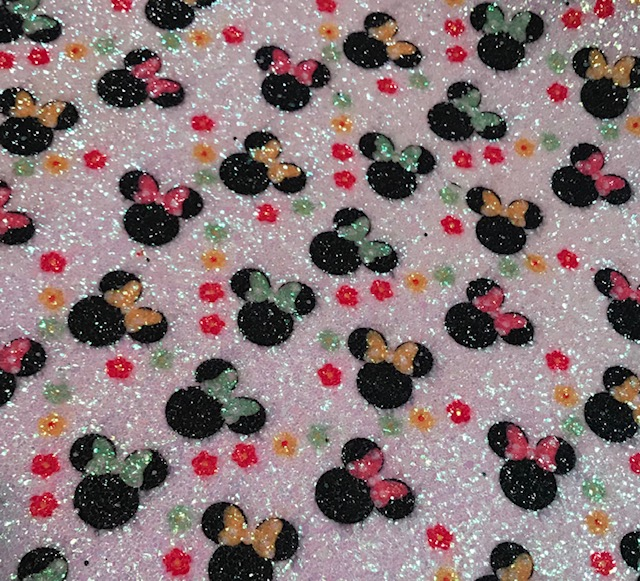 Mouse Floral Glitter