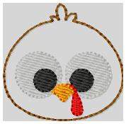 Googly Turkey 1 Embroidery File