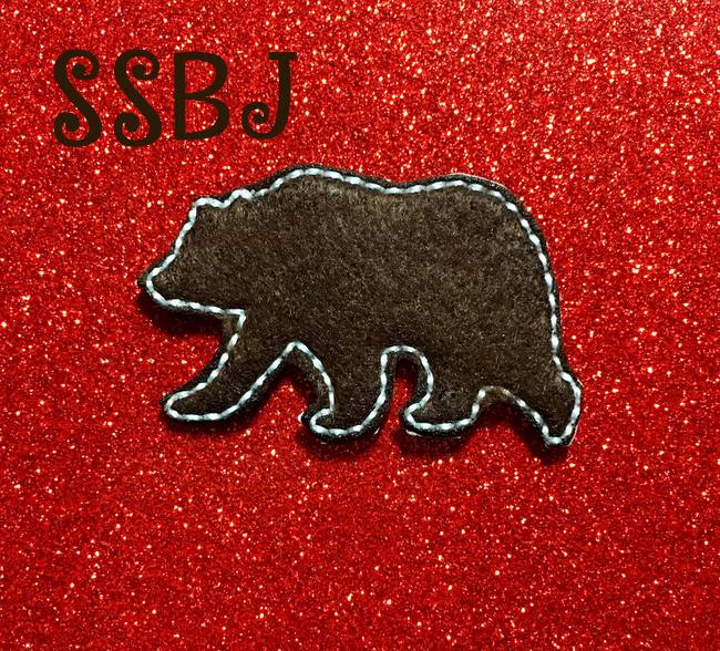 SSBJ Grizzly Bear Outline Embroidery File