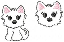 Walker Westie Embroidery File