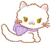 Gym Kitty Embroidery File