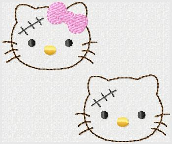 HK Franken Kitty Embroidery File