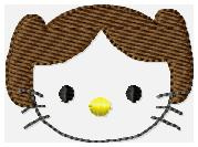 HKSW Princess Leia Embroidery File Feltie