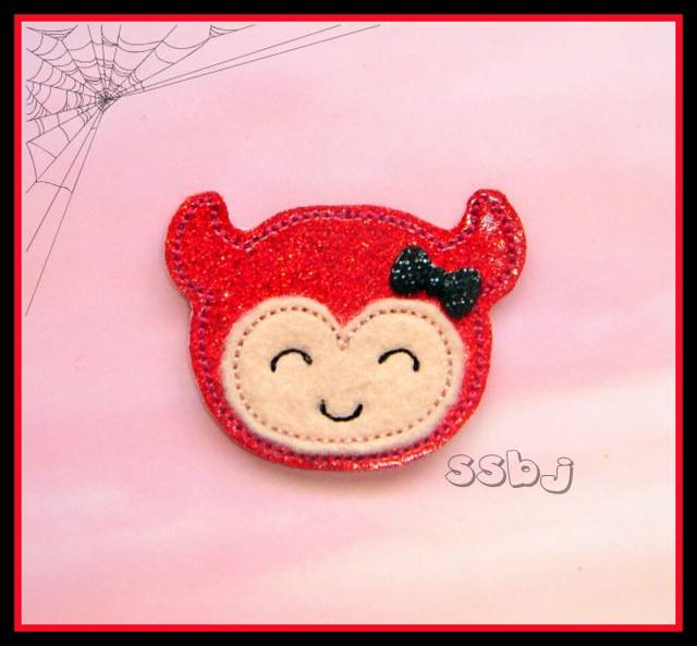 Hallow Kutie Kids  Devil Embroidery File