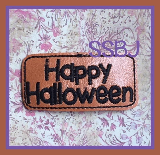 SSBJ Happy Halloween Cover Embroidery File