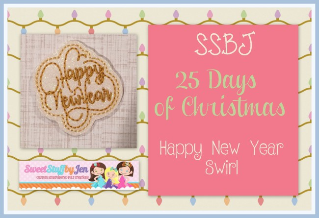 SSBJ Happy New Year Swirl Embroidery File