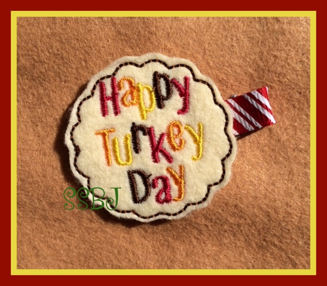 Happy Turkey Day Embroidery File