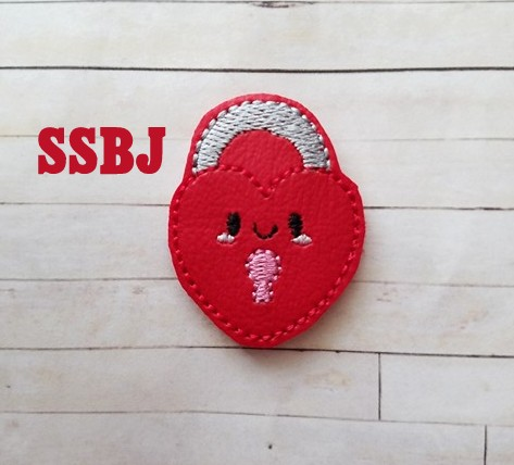 SSBJ Heart Locket Embroidery File