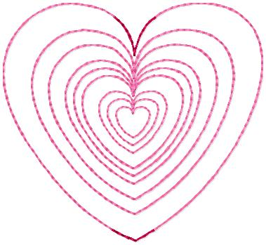 SSBJ Heart Outline Multi Sizes Embroidery File