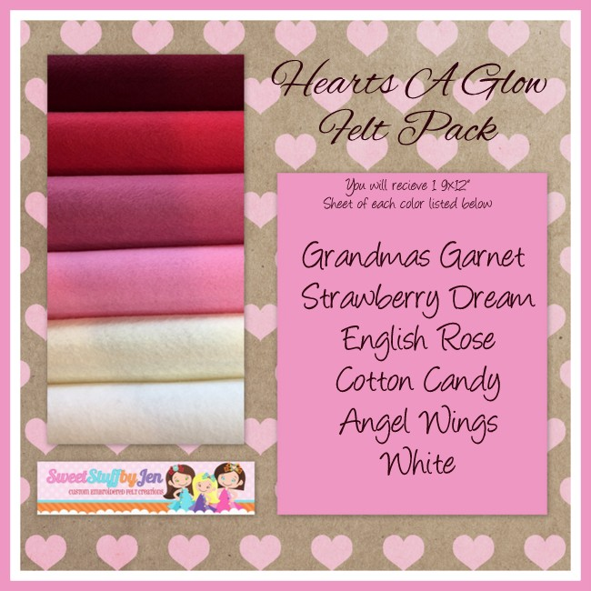 Hearts A Glow Valentine Felt Pack