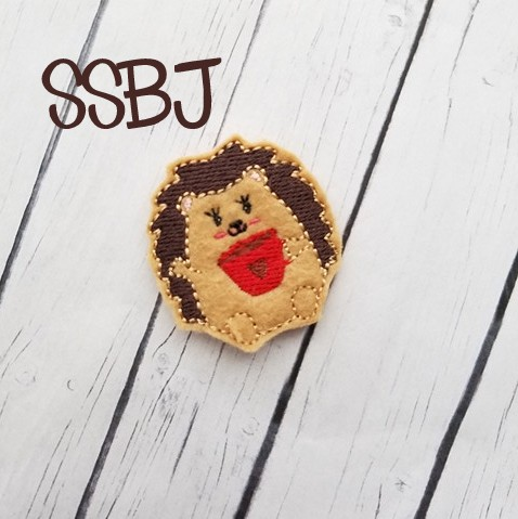SSBJ Hedgehog Coffee Embroidery File