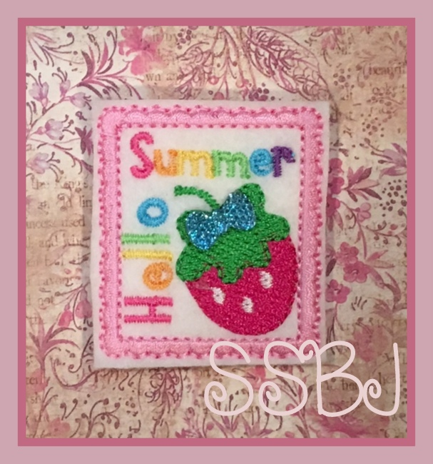 SSBJ Hello Summer Strawberry Embroidery File