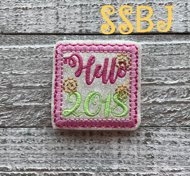 SSBJ Hello 2018 Embroidery File