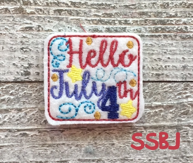 SSBJ Hello July 4th Embroidery File