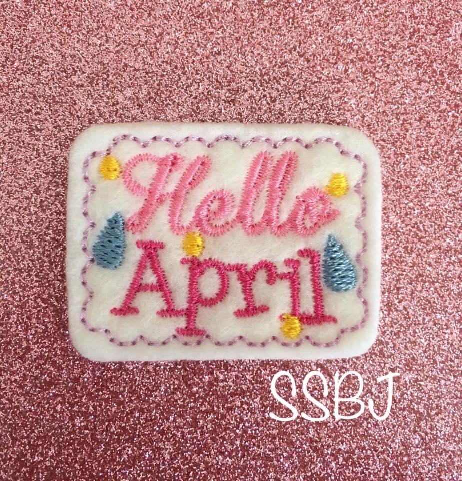 SSBJ Hello April Embroidery File