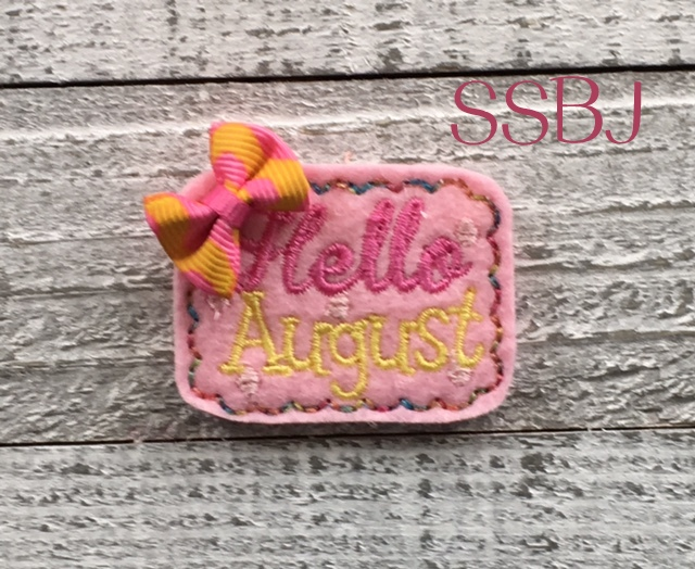 SSBJ Hello August Embroidery File