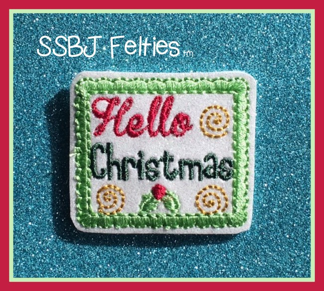 SSBJ Hello Christmas Embroidery File